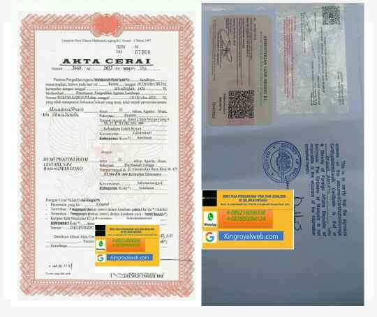 Legalisir Akta Cerai Kedutaan Malaysia King Royal